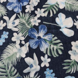Beautiful Blue Rayon Printed