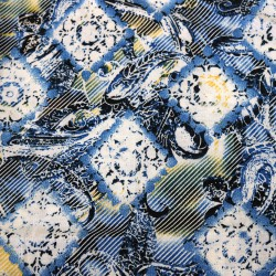 Lycra Printed_Blue Diamond