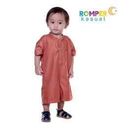 Baby Romper Clay Brown