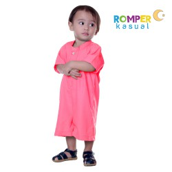Baby Romper Coral Pink
