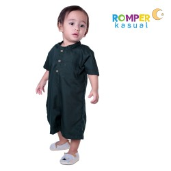 Baby Romper Green Forest