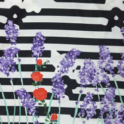 Stripes Flowers Printed Rosella