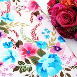 Wonderful Flora Polycrepe Printed