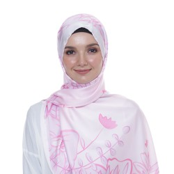 Pink Tropical Shawl