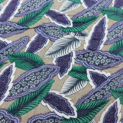 Windy Leaves Green Rayon Printed