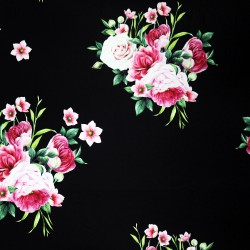 Bouquet Rose Black Printed Rosella