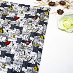 Foxy Grey Cotton Printed