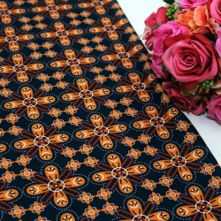 Brown Saloma Polycrepe Printed