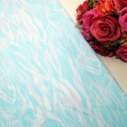 Blue River Polycrepe Printed
