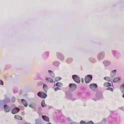 Purple Flora Polycrepe Printed